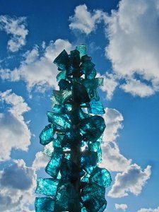 glass sculpture sky