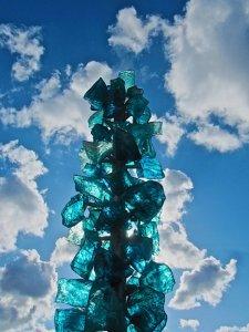 glass sculpture sky